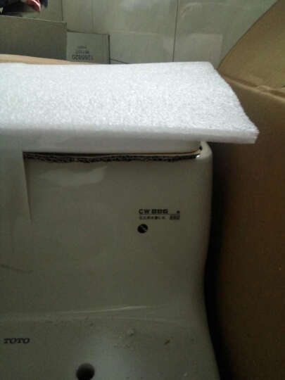 TOTO卫浴 坐便器马桶节水静音防堵抽水马桶CW886B 400坑距普通盖 覆盖送货入户 晒单图