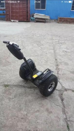 科思康电动平衡车两轮 智能成人儿童体感车代步思维漂移车 双轮自平衡带扶杆把手沙滩巡逻车 19英寸+48V锂电越野款(黑色) 晒单图