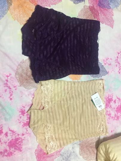 依曼安内裤女高腰产后塑身提臀收腹裤加大码夏季薄款透气束身女士内裤 肤色+紫色 2条 XXL (115斤--135斤) 晒单图