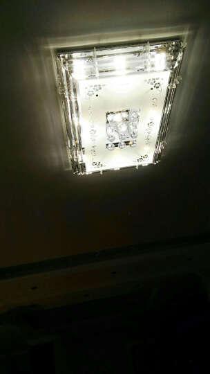 PLDDS灯饰LED吸顶灯客厅灯水晶卧室灯长方形餐厅灯具房间大厅遥控平板现代简约 樱花长115*75厘米无极 晒单图