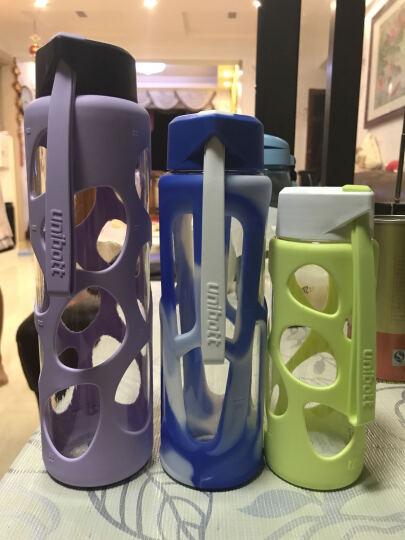 新加坡UNIBOTT优道水杯运动水壶大容量便携Tritan材质随手杯防漏创意塑料杯户外运动旅行泡茶杯 麓林蓝 550ml 晒单图
