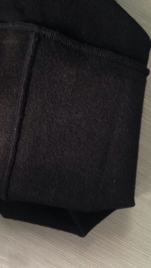 波司登打底裤女加绒加厚秋冬拉绒踩脚裤外穿高腰一体薄款加绒裤大码棉裤 黑色加厚380克 加大款2尺5-3尺 均码 晒单图