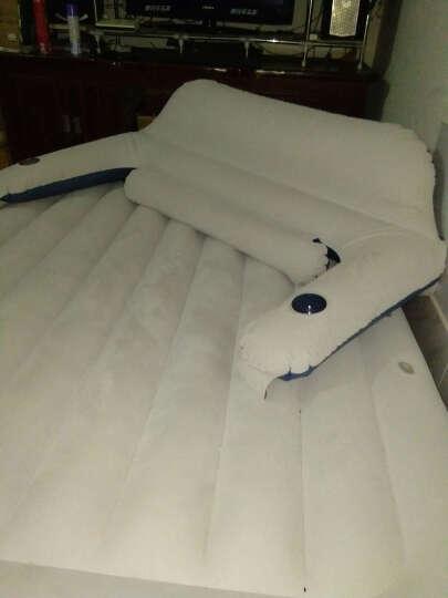 吉龙 靠背充气床垫双人加大 午休气垫床 便携沙发 午睡折叠床 153cm蓝白色+靠背+车载泵+赠品 晒单图