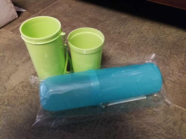 四万公里 漱口杯子男女款旅行 环保塑料出差便携 情侣洗漱收纳牙刷洗漱杯  SW2003 糖果绿(2件起售) 晒单图