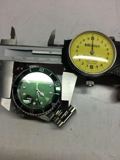 雷力欧(LOREO)男士手表 全自动机芯机械表夜光防水潜水运动商务男表 9201银翼版绿面 晒单图