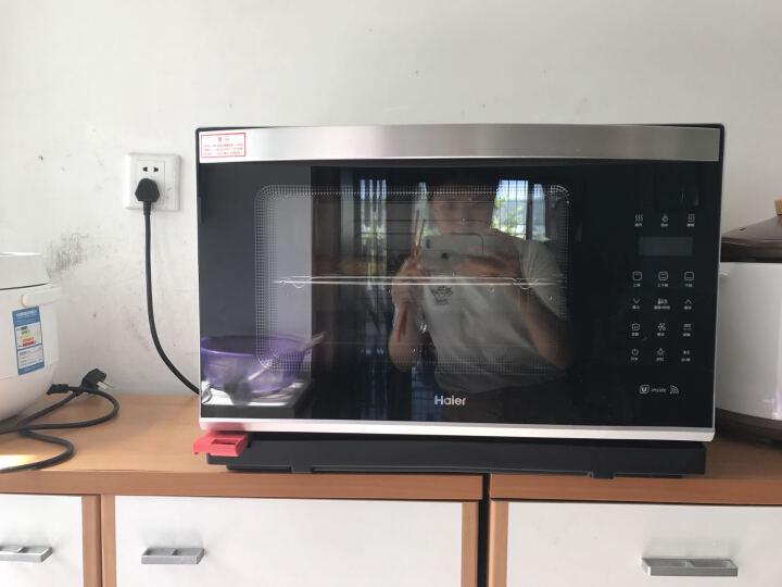 海尔(haier)XNO28-SIR 智慧嫩烤箱 电烤箱 蒸汽烤箱 家用(金属银) 晒单图