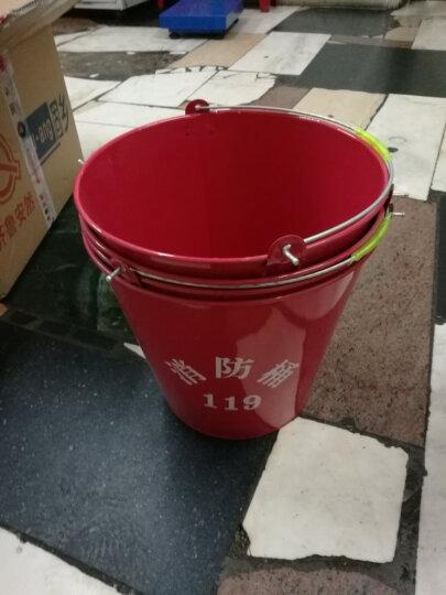 齐鲁安然 大号12L消防桶/黄沙桶/小号5升水桶/加厚烤漆消防铁桶 消防器材 红色 大号12升 水桶 晒单图