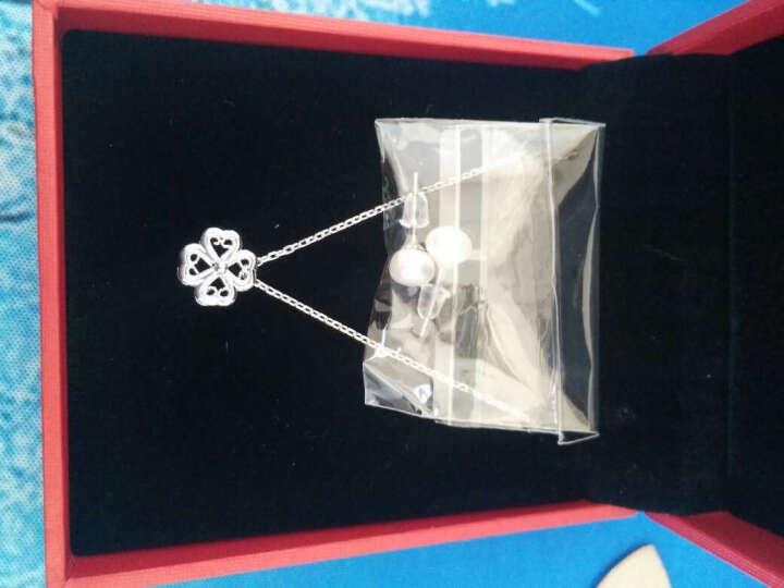 明牌珠宝 铂金项链女款 Pt950 四叶草蕾丝吊坠+项链套链 BFR0043 铂金项链 约 42厘米 4.01克 晒单图