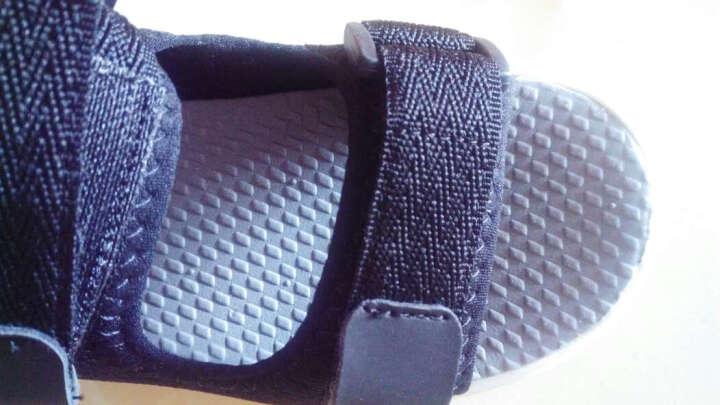 巴布豆童鞋男童凉鞋2017夏季新款儿童凉鞋男中大童沙滩鞋女 386黑色 28码/内长18.0cm 晒单图