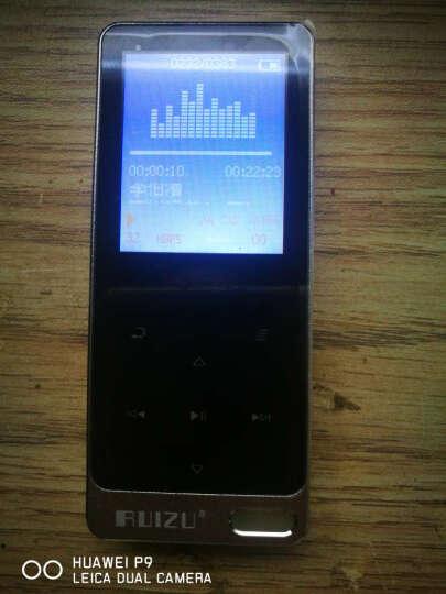 锐族 运动蓝牙mp3播放器MP4金属学生无损蓝牙音乐迷你触屏 录音随身听 酷黑色X05S/8G带外放 晒单图