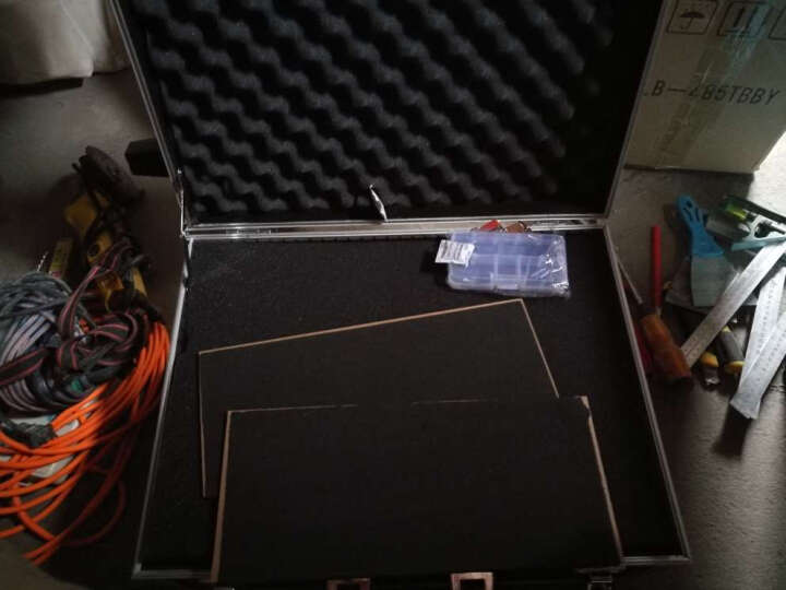 BORY 博瑞(BORY)工具箱 拉杆工具箱 五金工具箱 维修拉杆箱  铝合金收纳箱 黑色 重型拉杆工具箱650*430*310MM 晒单图
