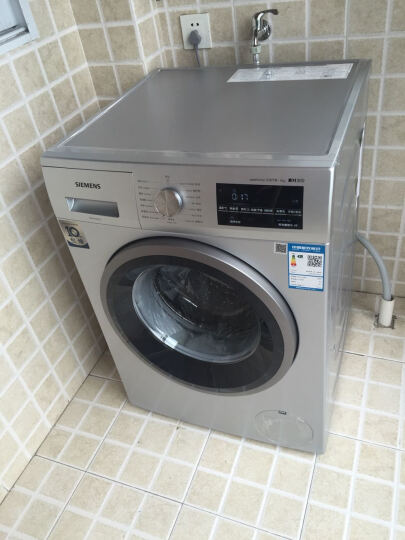 西门子(SIEMENS) 9公斤 变频滚筒洗衣机 LED显示 触摸控制 低噪音 除菌(银色)XQG90-WM12P2C81W 晒单图