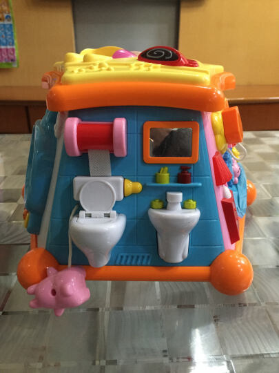 费雪牌(Fisher-Price) 儿童益智玩具婴幼儿学爬行玩具 宝宝男孩女孩早教启蒙玩具 多功能学习桌BJV34 晒单图