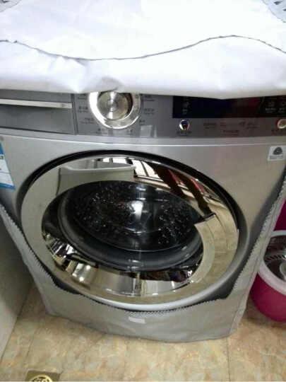 洗衣机罩海尔小天鹅伊莱克斯滚筒洗衣机专用防水防晒防尘罩套银色系列 加绒厚型/花边粘贴 大号(L) 晒单图