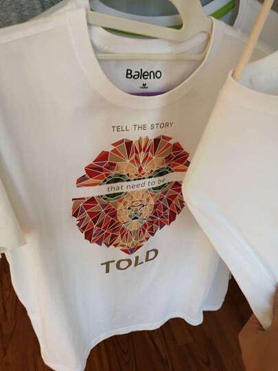 【售罄】Baleno/班尼路 夏季动物印花T恤男 纯棉休闲潮流半袖体恤男装 W94漂白 M 晒单图