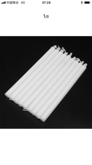 欧客欣(AUKEWIN) 长蜡烛 家用照明蜡烛 日用应急普通蜡烛 红色白色蜡烛 白色10支 长度:约17CM 晒单图