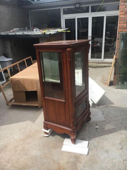 艾理思 家具 酒柜 美式实木单门酒柜 欧式单门玻璃柜 晒单图