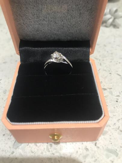 钻石小鸟 Zbird 18K金钻石戒指 23分求婚订婚结婚女款 12号 丝缠 晒单图