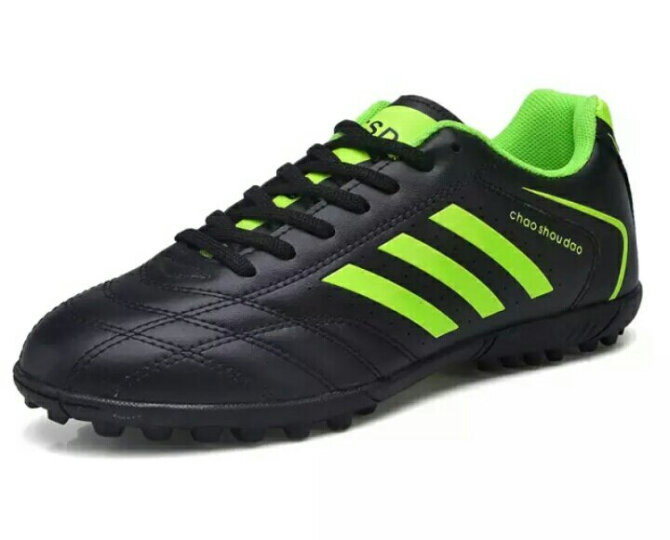 爱的思男子足球鞋儿童男女学生碎钉长钉专业训练比赛室内外青少年足球鞋 508荧光绿 37 晒单图