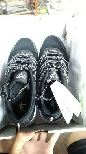 乔丹男鞋跑步鞋男款运动鞋男秋季轻便防滑耐磨休闲鞋旅游鞋 黑色/鲨鱼灰 40.5 晒单图