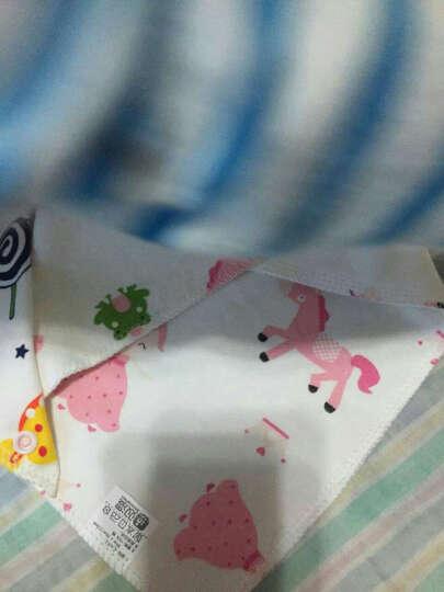 双漫婴儿口水巾 纯棉三角巾宝宝吃饭围嘴围兜宝宝口水兜新生儿 大号5条装(花色随机) 晒单图