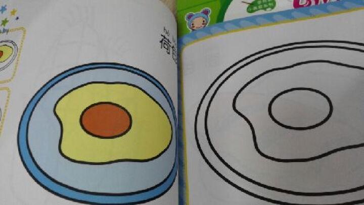 幼儿认知涂色2:蔬菜、美食、人物、运动 晒单图