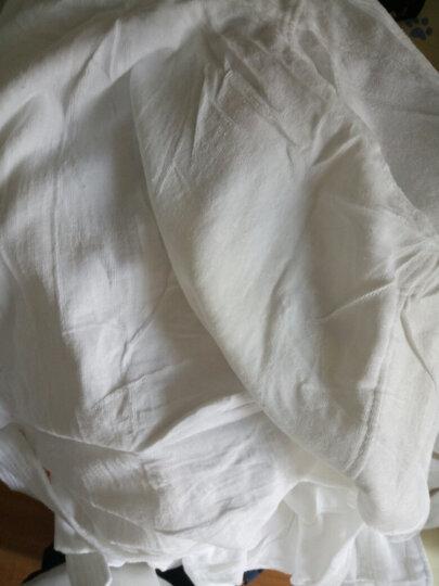 kdear酒店纯棉浴袍 男女情侣款加厚全棉加厚冬浴衣 和服领睡袍浴服 KY006纯白金色绣花女 M 晒单图