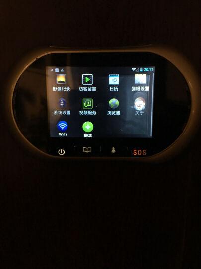 朗瑞特 电子猫眼智能无线可视门铃移动监测手机监控对讲交流款录像摄像头 3.0按键拍照录像版 晒单图