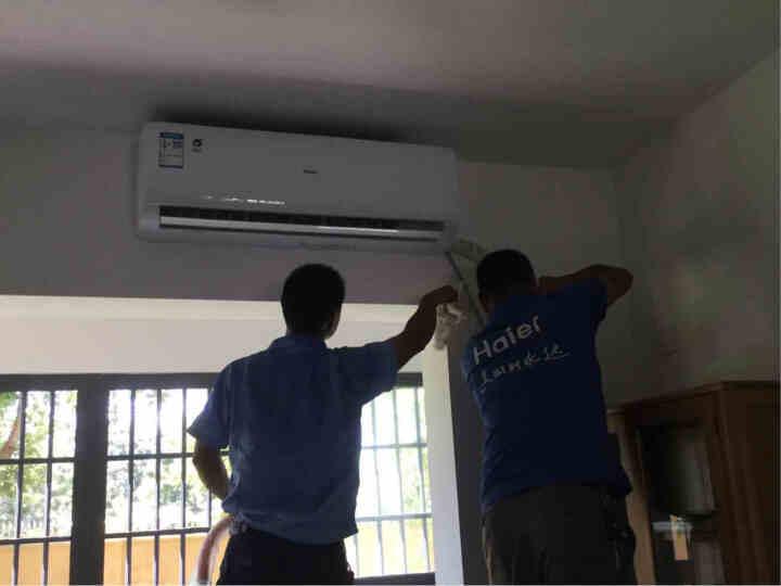 海尔空调挂机 1.5P匹智能变频壁挂式卧室空调 节能静音 XAA系列  晒单图