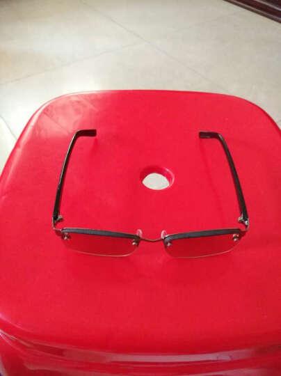 Silver Mink天然水晶眼镜打孔玻璃防疲劳高清晰清凉明目男女老花眼镜 水晶茶片450度(包盒镜布) 晒单图