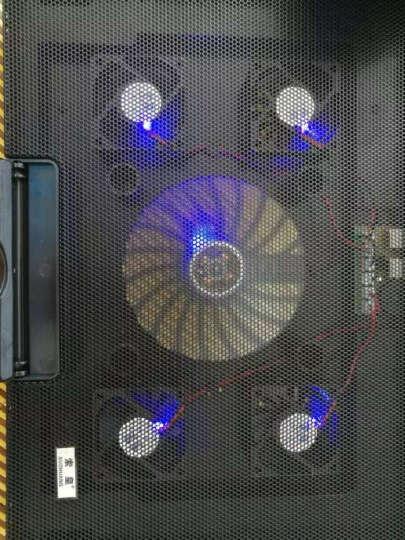 【京仓】笔记本支架电脑散热垫架底座手提电脑抽风式散热器15.6英寸14英寸17英寸电脑配件 五风扇黑色(升级版) 晒单图