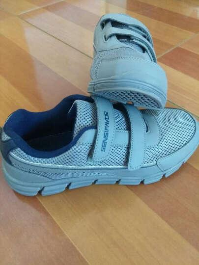 兴顺福多功能健步鞋中老年安全防滑软底轻便透气网面老人鞋 藏青色 39 晒单图
