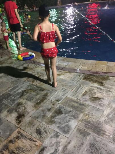 韩国儿童游泳衣女童女孩泳装公主比基尼宝宝分体裙式小中大童泳裤 黄 2XL(建议身高120-135) 晒单图