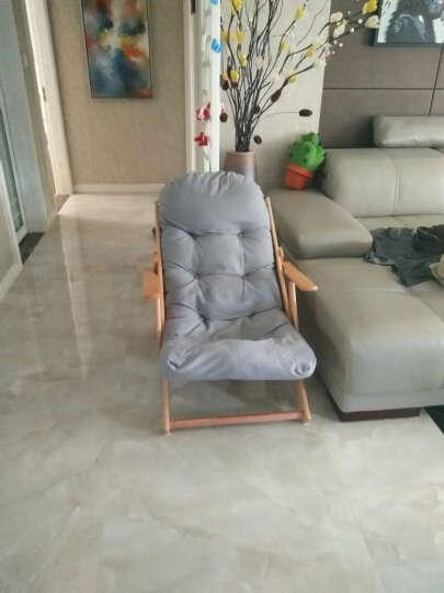 创运北欧休闲椅现代简约沙发椅靠背成人椅客厅加厚布艺折叠椅阳台椅帆布懒人椅舒服躺椅实木椅子舒适午睡椅子 时尚灰 晒单图