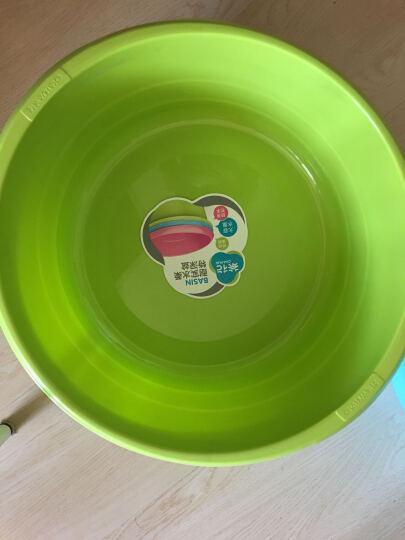 【特深洗衣盆】茶花塑料洗衣盆大号儿童洗浴盆加厚洗脚盆 中号绿色 晒单图