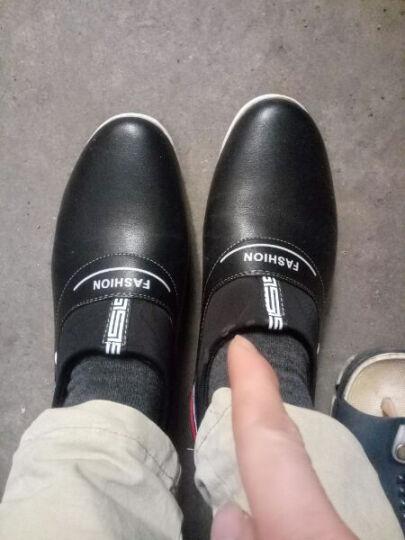 韩仙妮增高皮鞋 韩版商务休闲隐形增高6cm休闲鞋一脚登增高休闲鞋皮鞋 棕色加绒 39 晒单图