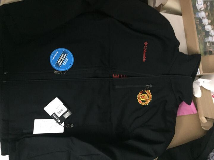 哥伦比亚(Columbia) 男曼联合作款户外休闲保暖软壳抓绒衣XE1634 红色646 XL 晒单图