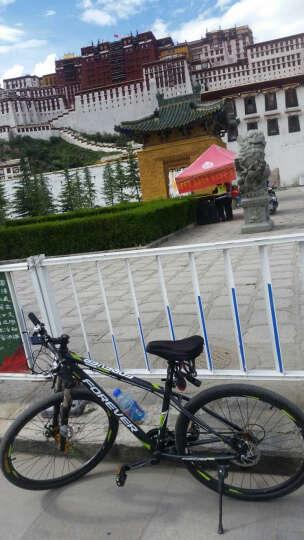 永久30变速山地车自行车男女式单车/27.5寸锁死避震前叉建大轮胎越野车 R100 黑绿色 晒单图