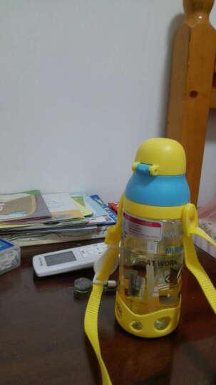 小黄人 儿童吸管杯夏季宝宝学饮水杯防摔防漏小孩学生水壶幼儿园喝水杯子 6613动感黄 晒单图