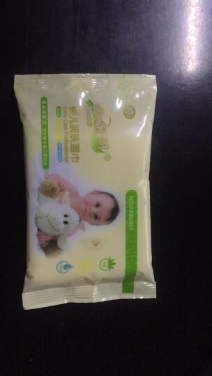 呢喃宝贝(ninanBaBy) 呢喃宝贝婴幼儿儿童湿巾宝宝无香味柔软小包携带湿巾10抽/包 10抽/包*1包   共10片 晒单图