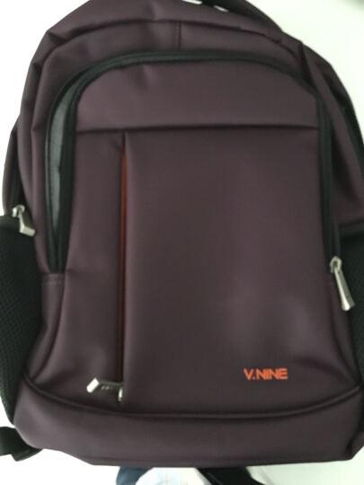 第九城(V.NINE) 双肩包15.6英寸笔记本电脑包商务休闲背包男女旅行书包 VB7BV31949J 紫色 晒单图