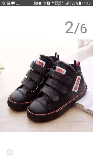 飞耀(FEIYAO) 童鞋2018冬季儿童靴子男童女童棉鞋 超纤防水儿童雪地靴 白色 31 晒单图