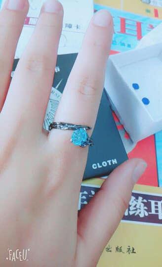 韩版欧美流行S925纯银开口情侣戒指时尚个性男戒指 棱爱戒指个性潮饰品 女款(S925银) 晒单图