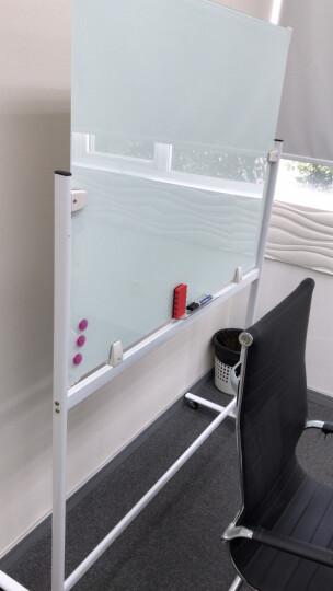 乖乖博士(GuaiGuaiBoShi) 磁性防爆钢化玻璃白板支架式可移动办公教学写字板 烤漆支架玻璃白板90*120 晒单图