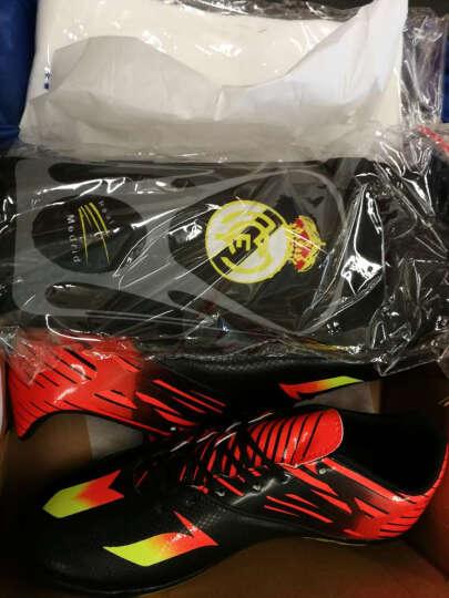 豹步(baobu)足球鞋男碎钉足球鞋儿童长钉足球鞋足球鞋 长钉黑红 39 晒单图
