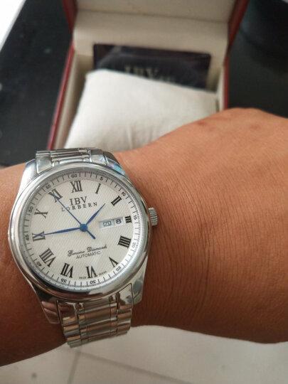 【视频看货】路宝(IBV)手表女士机械表全自动时尚简约水钻时装表超薄防水手表 间白钢带镶钻8629 晒单图