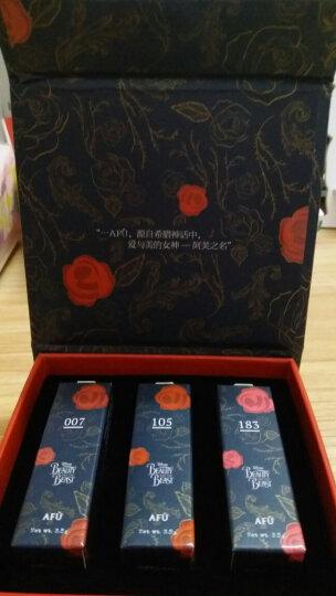 阿芙(AFU)精油之吻润色唇膏礼盒3.5g*3支装(007红+183粉+105橘)(美女与野兽限量版) 晒单图