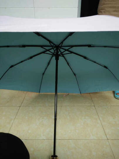 JUST MODE 太阳伞女撞色小清新折叠防紫外线女遮阳伞 彩胶纯色-粉 晒单图