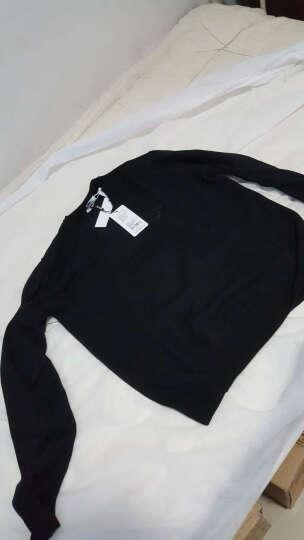 VERSACE范思哲男士V领针织毛衫毛衣多色可选V700472S羊毛材质建议干洗 黑色 XL 晒单图