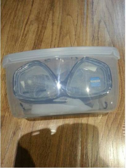 TOPIS浮潜三宝套装 硅胶钢化玻璃高透光清晰防雾平光/近视潜水镜 全干式呼吸管潜水装备 套装黑 晒单图